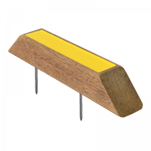 timber tee marker - yellow