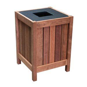 Square Timber Bin