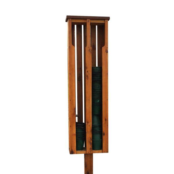 timber sand bucket dispenser