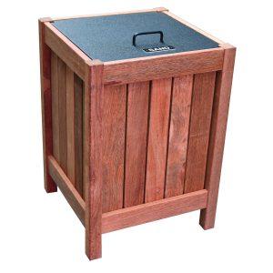 Square timber sand bin